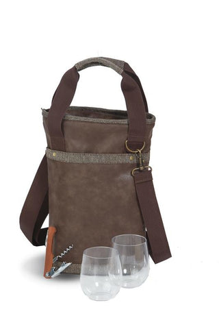 Omega Single Wine Bottle Bag  - Espresso