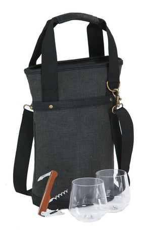 Omega Single Wine Bottle Bag  - Grey