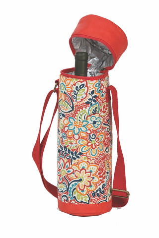 Insulated wine bottle carrier