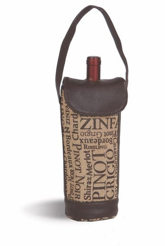 Cortica Single Wine Bottle Carrier - Burlap