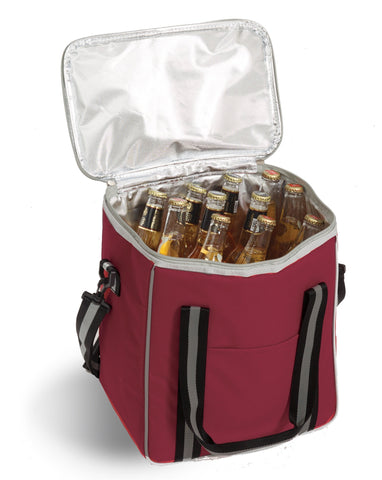 6 Bottle cooler with removable divider for wine bottles or cans