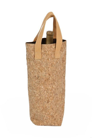 Cork Tote Single Wine Bottle Bag