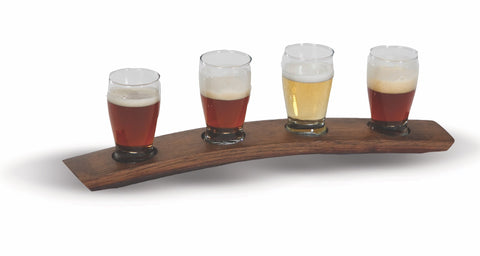 Beer Taster Flight made from a French wine barrel stave, made in the USA