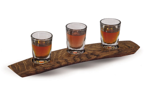Whiskey, Scotch Taster Flight made from a French wine barrel stave, made in the USA