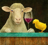 Image of Sheep-faced On Wine with Some Chick by Will Bullas