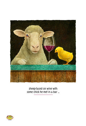 Sheep-faced On Wine with Some Chick by Will Bullas