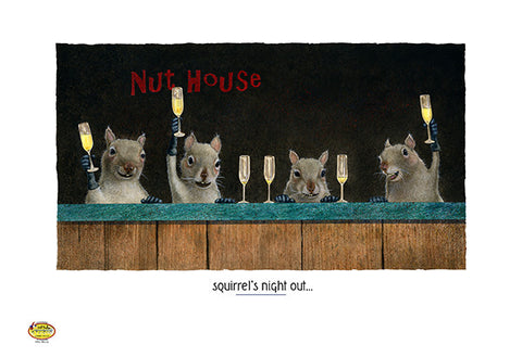 Squirrel's Night Out by Will Bullas