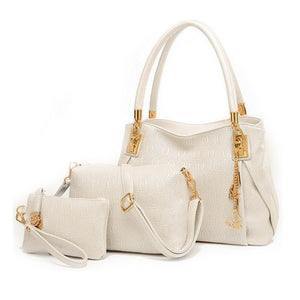 3 Peice PU Handbag Set For Women