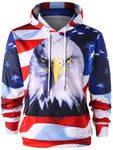 Eagle and American Flag 3D Print Hoodie