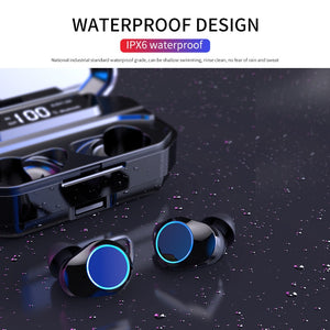 Wireless Bluetooth Waterproof Touch Earbuds Headset w/ Type-c Charge Case