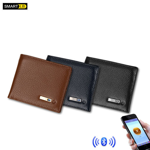 Genuine Leather High Quality GPS Charging Anti-theft Wallet