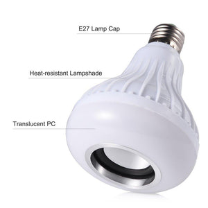 Wireless Bluetooth Speaker LED Light Bulb with Flame Effect Light