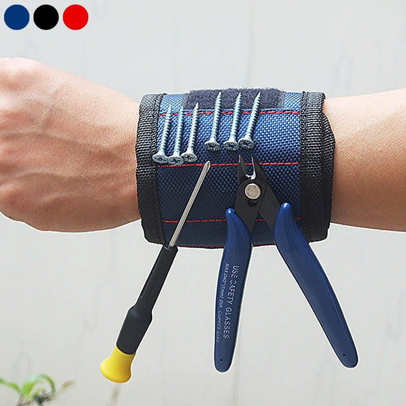 Two Magnetic Adjustable Wrist Support Bands For Screws Nails