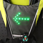 LED Wireless Safety Turn Signal Light Vest for Bicycle