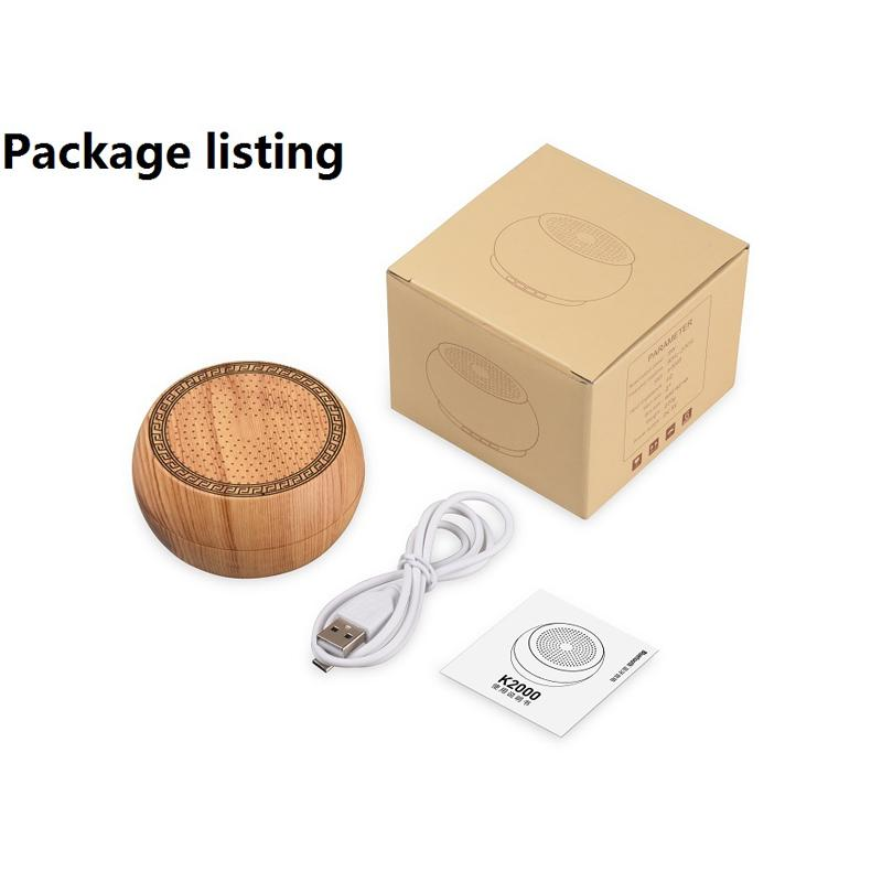 Wireless Wooden Bluetooth Speaker with Microphone Support Hands-free