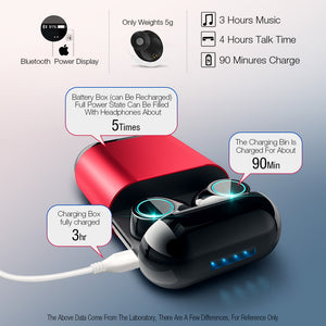 Wireless Bluetooth Stereo Earphones with Mic and Charging Box