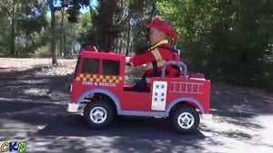 Kalee Fire Truck 12v Red