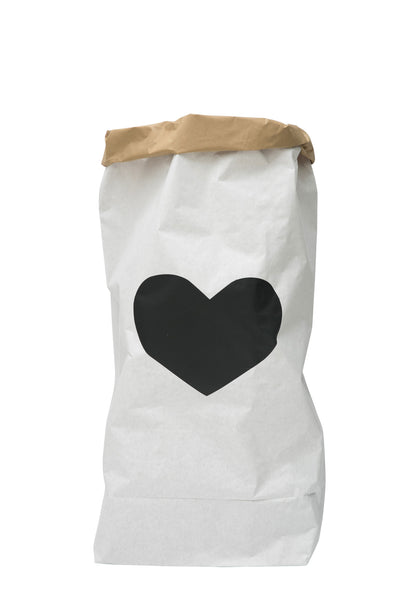 Tellkiddo Black Heart Paper Bag