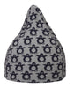 Ladedahkids Grey and Navy Penguin Bean Bag