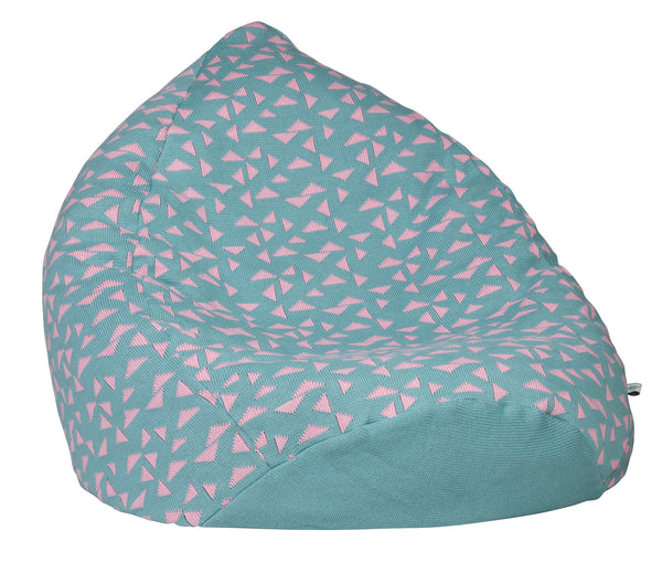 Ladedahkids Pink and Ice Blue Triangle Bean Bag