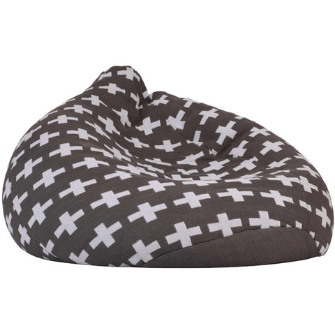 Ladedahkids Grey Random Cross Bean Bag