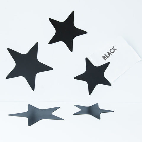 Groovy Magnets Magnet Set Stars Black
