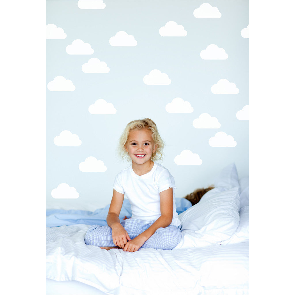 Mini Cloud White or Pink Wall Decal