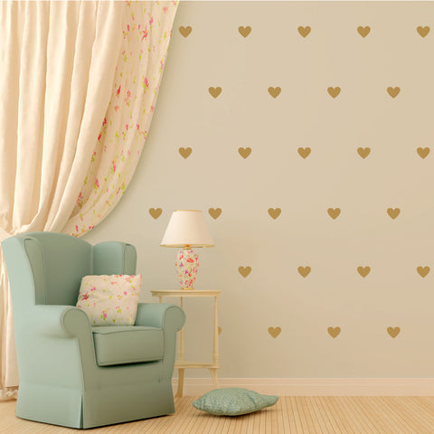 Gold Heart Decal