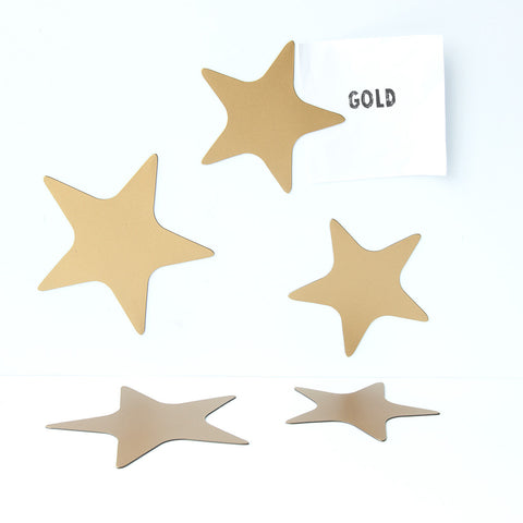 Groovy Magnets Magnet Set Stars Gold