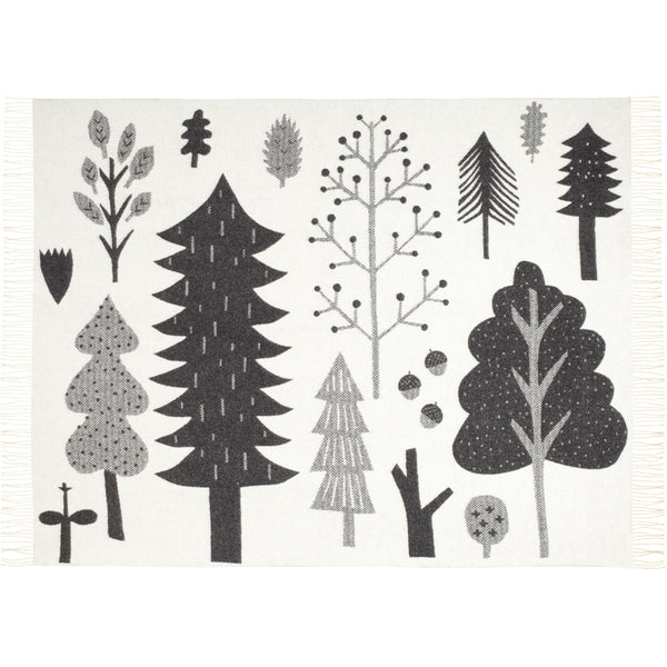 Donna Wilson Black/White Forest Blanket