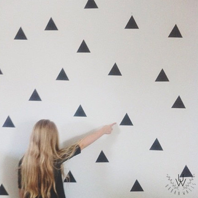 Urban Wall Black Triangle  Decal