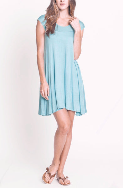 Jersey Cap Sleeve Dress - EcoVibe Apparel  - 1