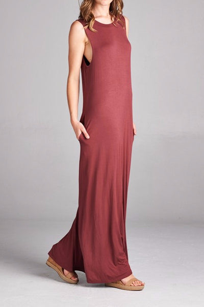 Brick Red Maxi - EcoVibe Apparel
