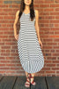 Eva Stripe Jersey Dress