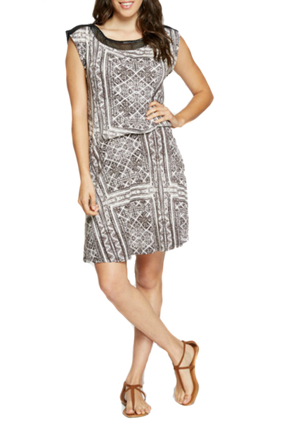 Corina Tribal Print Dress - EcoVibe Apparel  - 1
