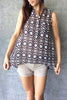 Geometric Sleeveless Blouse