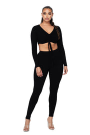 2 PC Ribbed Cropped Top Set - {2 Colors Available}