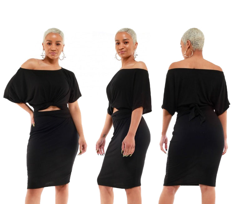 2 PC Convertible Dress - The House of Stylez