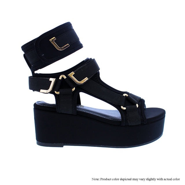 GlamRock Sandals -  Black - The House of Stylez