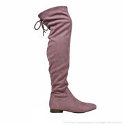 Ultra Suede Over the Knee Riding Boots - Mauve - The House of Stylez