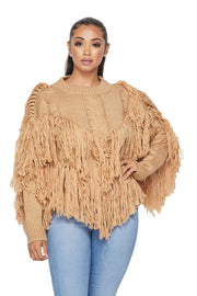 Fringe Long Sleeve Sweater - {4 Colors Available}