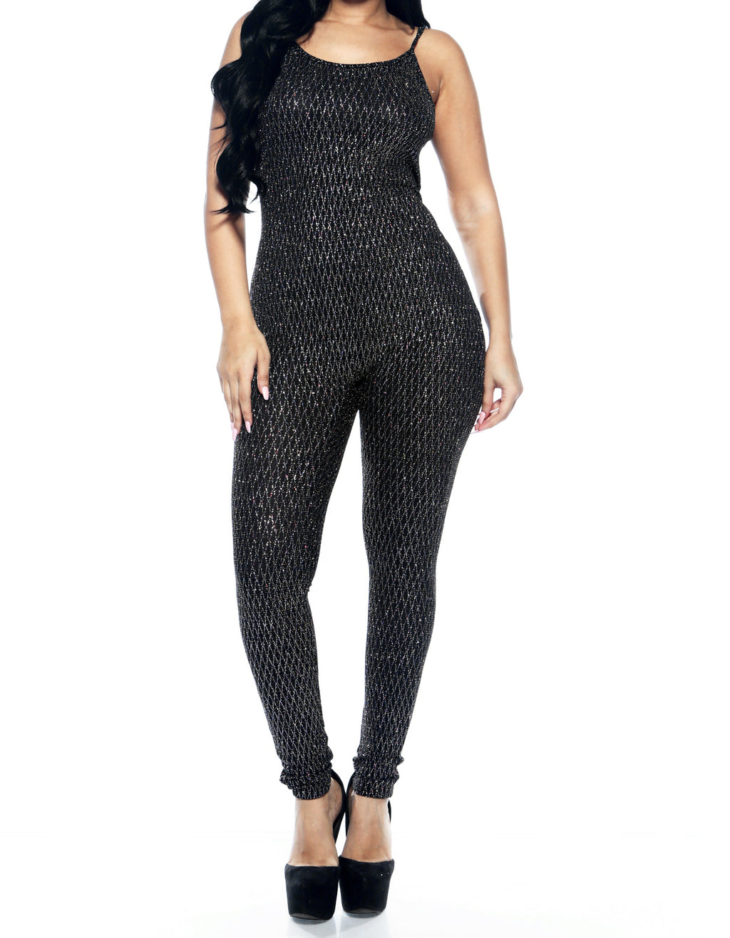 Glitter Spagetti Strap Jumper - Silver - The House of Stylez