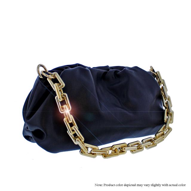 Scrunchy Chain Bag - Black