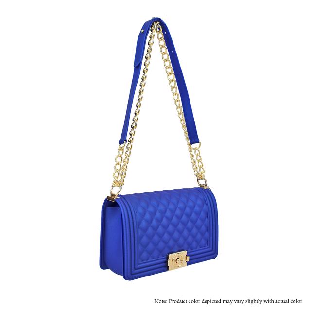 Jelly {Silicone} Shoulder Bag - Royal Blue