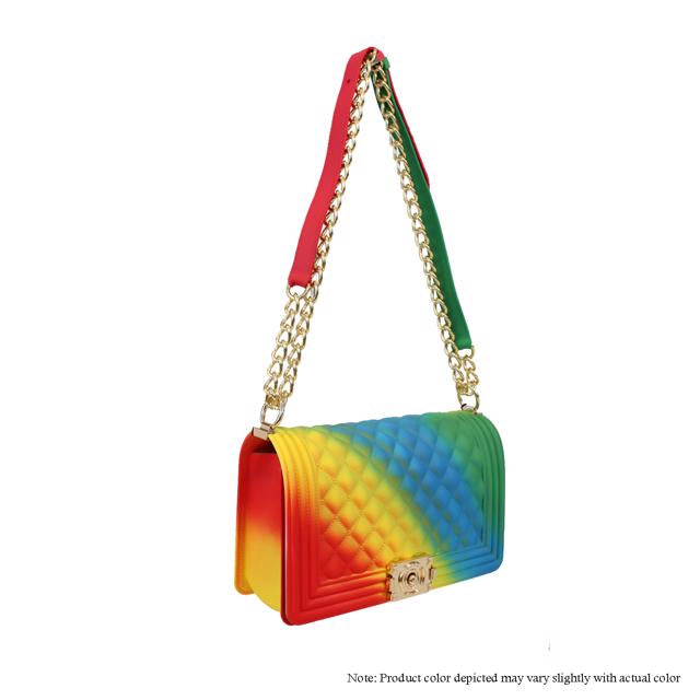 Jelly {Silicone} Shoulder Bag - Rainbow 2
