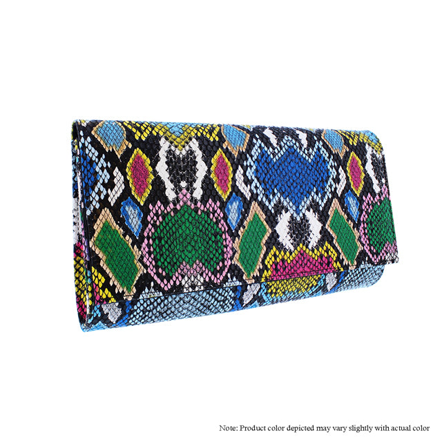 Multi Color Snake Clutch - The House of Stylez