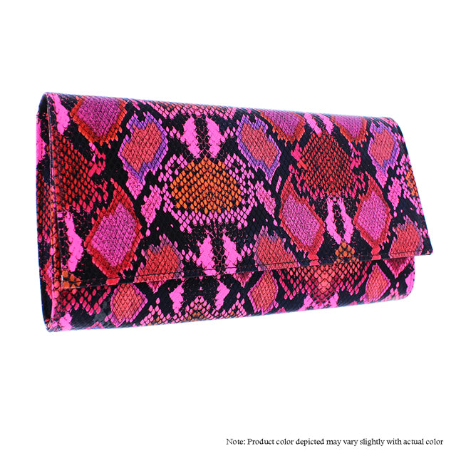 Pink Multi Snake Clutch - The House of Stylez