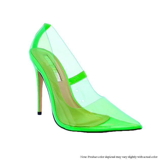 The Glass Slipper - Neon Green - The House of Stylez