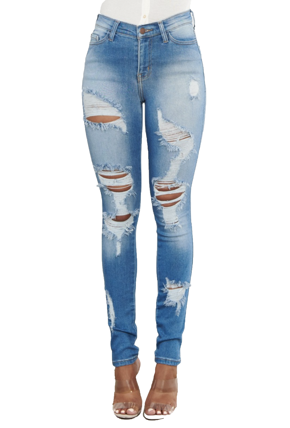 {MP1838} Distressed Skinny Jeans