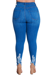 {{P1209}} Curvy Distressed Skinny Jeans - The House of Stylez